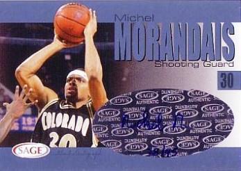 2004 SAGE Autographs Platinum #A21 Michel Morandais/45