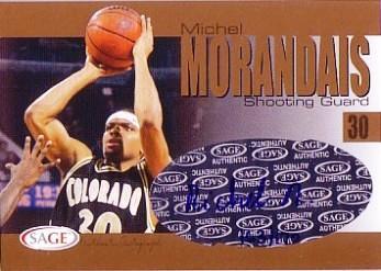 2004 SAGE Autographs Gold #A21 Michel Morandais/170
