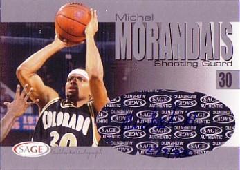 2004 SAGE Autographs Silver #A21 Michel Morandais/330