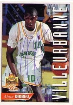 1995 Panini Alain Digbeu # 134 (Hand Auto)