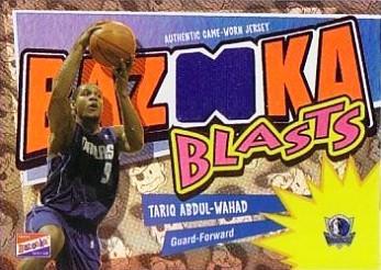 2003-04 Bazooka Blasts Parallel #TAW  Tariq Abdul-Wahad/25