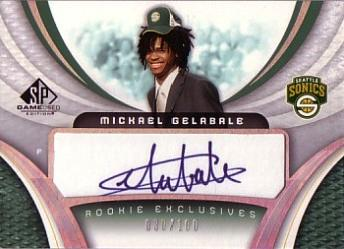 2005-06 SP Game Used Rookie Exclusive Autographs #MG Mickael Gelabale