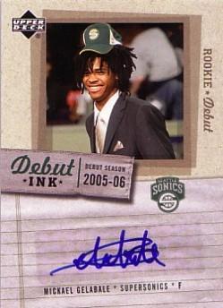 2005-06 Upper Deck Rookie Debut Ink #MG Mickael Gelabale
