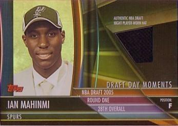 2005-06 Topps Big Game Draft Day Moments Relics #IM Ian Mahinmi Hat/124
