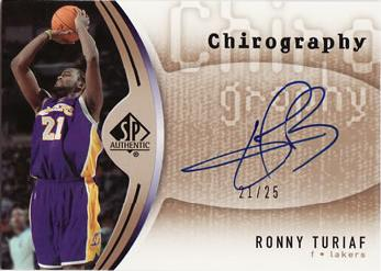 2006-07 SP Authentic Chirography Gold #RT Ronny Turiaf