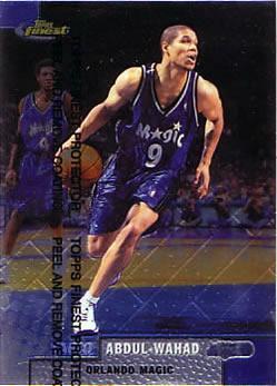 1999-00 Finest #135 Tariq Abdul-Wahad