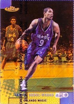 1999-00 Finest Refractors Gold #135 Tariq Abdul-Wahad