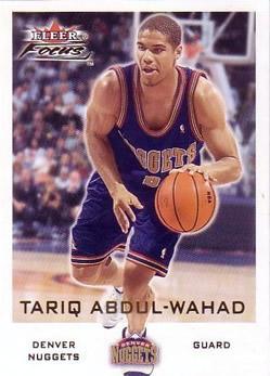 2000-01 Fleer Focus #71 Tariq Abdul-Wahad
