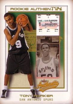 2001-02 Fleer Authentix Second Row Parallel #112 Tony Parker