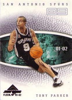 2001-02 Fleer Marquee #112 Tony Parker RC