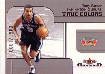2001-02 Fleer Maximum #208 Tony Parker TC RC