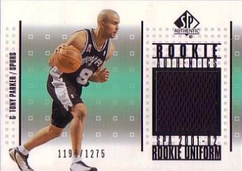 2001-02 SP Authentic Rookie Authentics #RATP Tony Parker