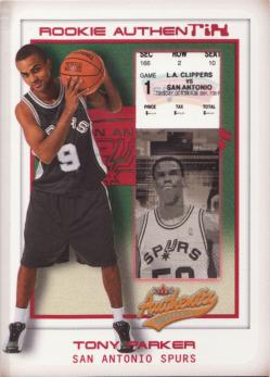 2001-02 Fleer Authentix #112 Tony Parker RC