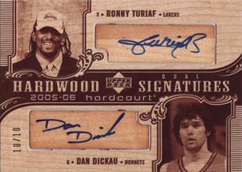 2005-06 Upper Deck Hardcourt Hardwood Signatures Dual #TD Ronny Turiaf/Dan Dickau