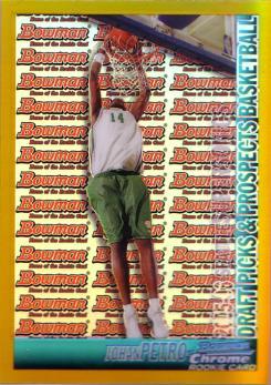 2005-06 Bowman Chrome Refractors Gold #136 Johan Petro