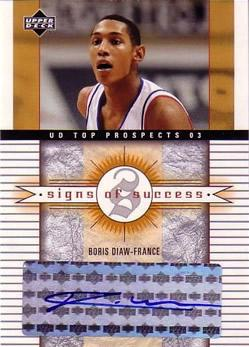 2003-04 UD Top Prospects Signs of Success #SSBD Boris Diaw