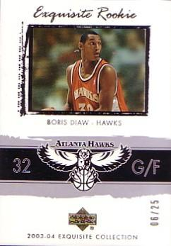 2003-04 Exquisite Collection Gold #61 Boris Diaw