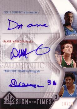 SP Authentic Sign of the times Triple SMD Smith / Markota / Diawara