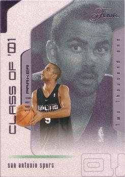 2001-02 Flair #105 Tony Parker RC