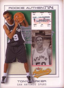 2001-02 Fleer Authentix Front Row Parallel #112 Tony Parker