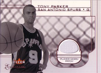 2001-02 Fleer Exclusive #122 Tony Parker/500 RC