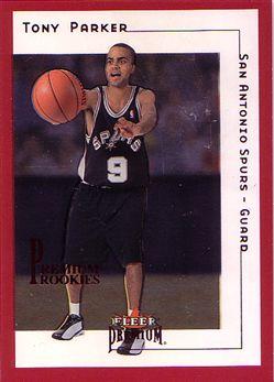 2001-02 Fleer Premium Star Rubies #180 Tony Parker