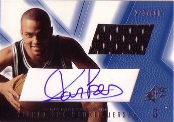 2001-02 SPx #91A Tony Parker JSY AU RC