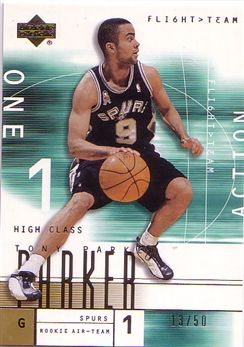 2001-02 Upper Deck Flight Team Gold #136A Tony Parker