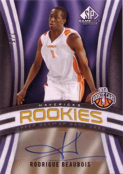 SP Game Used #107 Rodrigue Beaubois - SP Rookie Signatures