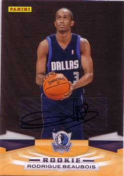 Panini #375 Rodrigue Beaubois - Inscriptions