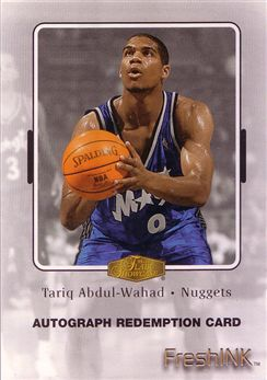 1999-00 Flair Showcase Fresh Ink #1 Tariq Abdul-Wahad - Redemption