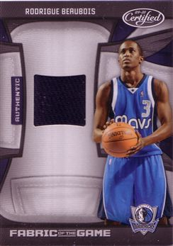 Certified Fabric of the Game #192 Rodrigue Beaubois/250
