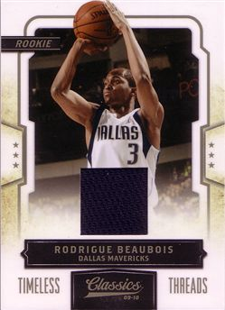 Classics Timeless Threads #182 Rodrigue Beaubois /265