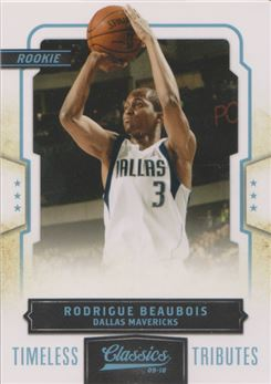 Classics Timeless Tributes Platinum #182 Rodrigue Beaubois
