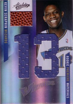 2010-11 Absolute Memorabilia Rookie Materials Jumbo Jersey Numbers Basketball #167 Kevin Seraphin