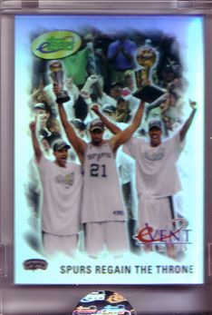 2005 eTopps Playoffs #7 Spurs Regain the Throne