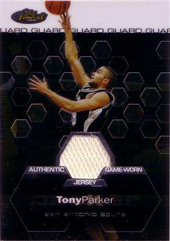 2002-03 Finest #151 Tony Parker JSY