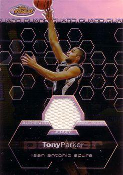 2002-03 Finest Refractors #151 Tony Parker JSY