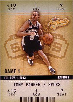 2002-03 Fleer Authentix #21 Tony Parker