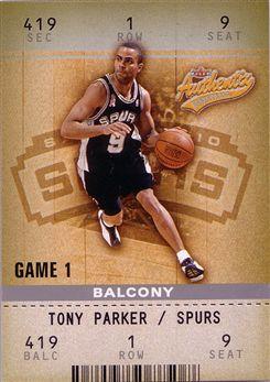 2002-03 Fleer Authentix Balcony #21 Tony Parker