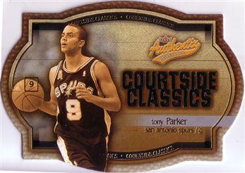 2002-03 Fleer Authentix Courtside Classics Gold #4 Tony Parker