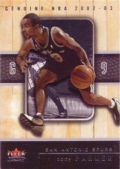 2002-03 Fleer Genuine #48 Tony Parker