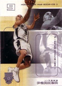 2002-03 Fleer Hot Shots #86 Tony Parker