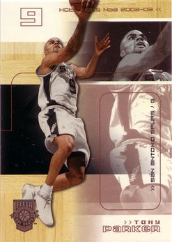 2002-03 Fleer Hot Shots Hot Hands #86 Tony Parker