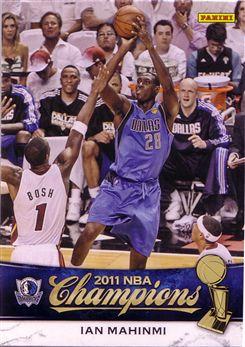 2010-11 Mavericks Panini NBA Champions #12 Ian Mahinmi
