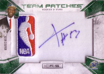 Rookies and Stars #134 Kevin Seraphin - NBA Team Patches Signatures Emerald