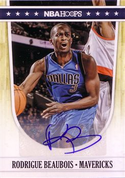 2011-12 Hoops Autographs #36 Rodrigue Beaubois