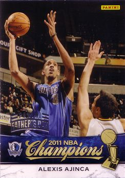 2010-11 Mavericks Panini NBA Champions Father's Day #16 Alexis Ajinca