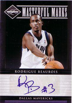 2011-12 Limited Masterful Marks Signatures #46 Rodrigue Beaubois/50