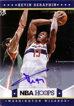 2012-13 Hoops Autographs #176 Kevin Seraphin
